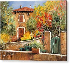 Bosco Giallo Acrylic Print by Guido Borelli