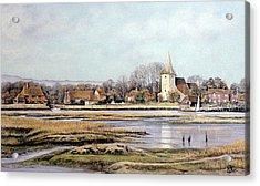 Acrylic Print featuring the painting Bosham Harbour by Rosemary Colyer