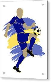 Bosnia Soccer Player Acrylic Print by Joe Hamilton