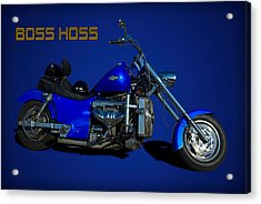 Boss Hoss Chevy V8 Motorcycle Acrylic Print by Tim McCullough