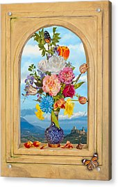 Acrylic Print featuring the photograph Bosschaert - The Transcience Of Beauty by Levin Rodriguez