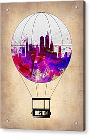 Boston Air Balloon Acrylic Print by Naxart Studio