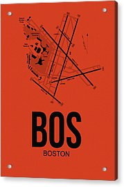 Boston Airport Poster 2 Acrylic Print