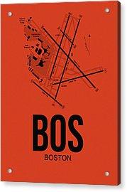 Boston Airport Poster 2 Acrylic Print by Naxart Studio