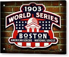 Boston Americans 1903 World Champions Acrylic Print by Stephen Stookey