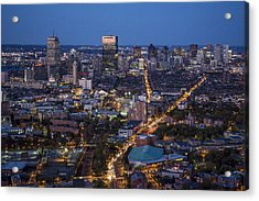 Boston At Night From The Sw. Acrylic Print