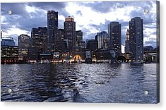 Boston At Twilight Two Acrylic Print