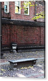 Boston Bench Acrylic Print by John Rizzuto