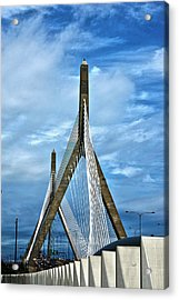 Boston Bridge Acrylic Print by Melanie McKinney