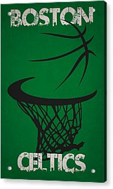 Boston Celtics Hoop Acrylic Print by Joe Hamilton