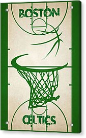 Boston Celtics Court Acrylic Print by Joe Hamilton