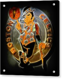 Boston Celtics Logo Acrylic Print by Stephen Stookey
