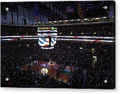 Boston Celtics Under The Star Spangled Banner Acrylic Print by Juergen Roth