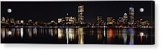 Boston Charles River Panorama Acrylic Print by Toby McGuire