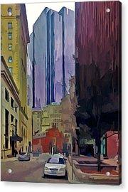 Boston City Centre 2 Acrylic Print by Yury Malkov
