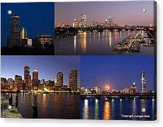 Boston City Skyline Acrylic Print by Juergen Roth
