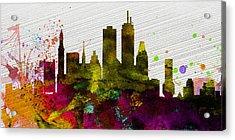 Boston City Skyline Acrylic Print by Naxart Studio