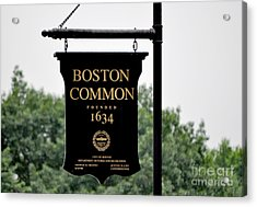 Boston Common Ma Acrylic Print