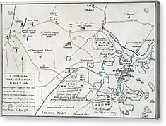 Boston-concord Map, 1775 Acrylic Print by Granger
