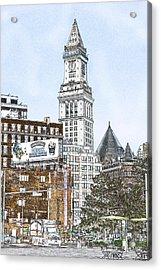 Boston Custom House Tower Acrylic Print