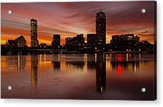 Boston Dawn Acrylic Print by Ken Stampfer