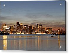 Boston Downtown Acrylic Print by Juergen Roth