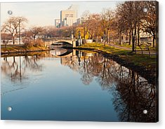 Boston Esplanade Acrylic Print by Lee Costa