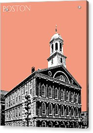 Boston Faneuil Hall - Salmon Acrylic Print by DB Artist