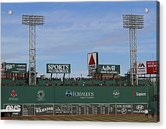 Boston Fenway Park Green Monster Acrylic Print by Juergen Roth