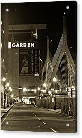Boston Garder And Side Street Acrylic Print