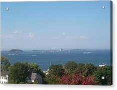 Acrylic Print featuring the photograph Boston Harbor From Hull by Barbara McDevitt