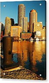 Boston Harbor Acrylic Print by James Kirkikis
