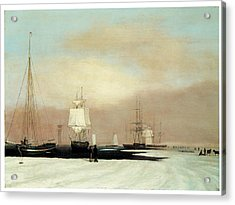 Boston Harbor Acrylic Print by John Blunt