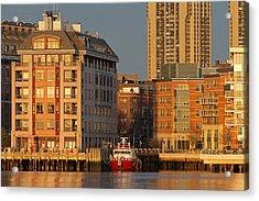 Boston Harbor Luxury Living Acrylic Print by Juergen Roth