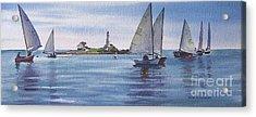 Boston Harbor Spring Sail Acrylic Print by Karol Wyckoff