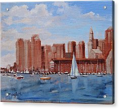Boston Harbor View Acrylic Print
