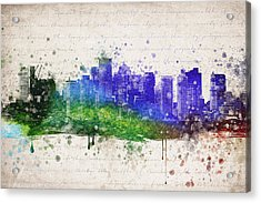 Boston In Color Acrylic Print
