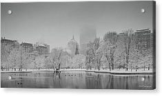 Boston In Snow Acrylic Print