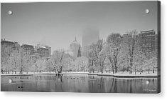 Boston In Snow Acrylic Print