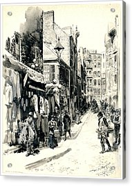 Boston Jewish Quarter 1899 Acrylic Print by Padre Art