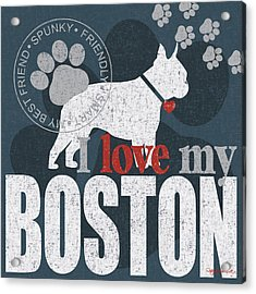Boston Acrylic Print by Kathy Middlebrook