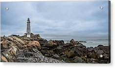 Boston Lighthouse On The Rocks Acrylic Print
