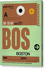 Boston Luggage Poster 1 Acrylic Print by Naxart Studio
