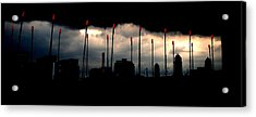 Boston Ma  Charles River Boat House Storm Acrylic Print by Ron Bartels