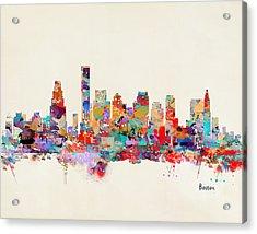 Boston Massachusetts Skyline Acrylic Print by Bri B
