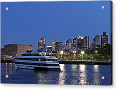 Boston Odyssey Cruise Ship Acrylic Print by Juergen Roth