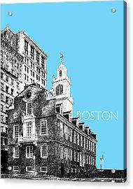 Boston Old State House - Sky Blue Acrylic Print