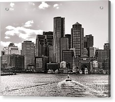 Boston Acrylic Print by Olivier Le Queinec
