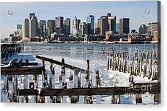 Boston - On The Rocks Acrylic Print by Stephen Flint