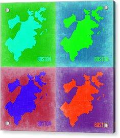 Boston Pop Art Map 2 Acrylic Print